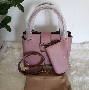 Authentic Burberry Med Buckle Tote and wallet
